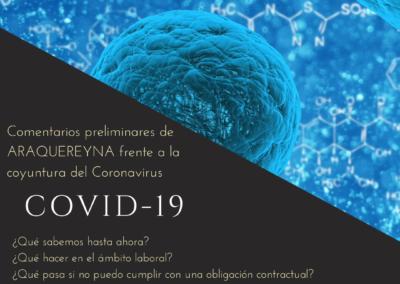 Comentarios preliminares de ARAQUEREYNA frente a la coyuntura del coronavirus COVID-19