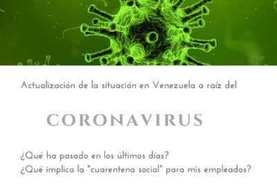 Actualización de la situación en Venezuela a raíz del coronavirus