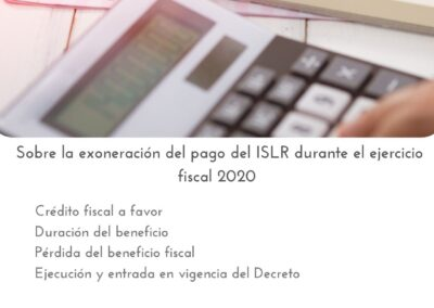 Exoneración ISLR 2020