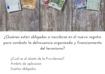 ¿Quiénes están obligados a inscribirse en el nuevo registro para combatir la delincuencia organizada y financiamiento del terrorismo?